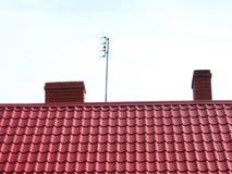 Dach und Kamine Lizenzfreies Stockbild