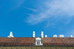Dach und Kamine Stockfotografie