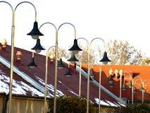 Dach und Lampen stockbild