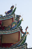 Dach von China-Tempel Stockfoto