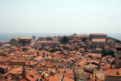 Dach von Dubrovnik Stockfotografie