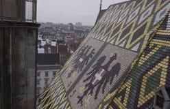Dach von Stephansdom-Kathedrale in Wien Lizenzfreies Stockbild