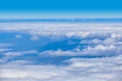 Dach von Wolken über Teneriffa-Küste Lizenzfreies Stockfoto