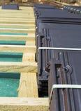 Dach w budowie zdjęcie stock