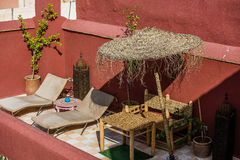 Dach w Marrakech, Maroko Zdjęcie Royalty Free