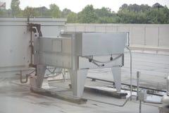 Dach Wspinająca się HVAC jednostka fotografia royalty free