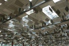 Dach wyjściowa sala w Terminal 3 przy Changi lotniskiem Obrazy Stock