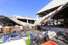 Dach xiang'an gromadzki jedzenie rynku zawalenie się Obrazy Stock