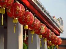 Czerwony latarniowy Bangkok Fotografia Royalty Free