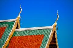 Dach z plamy niebem zdjęcia stock