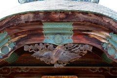 Dach z rzeźbą żuraw Zdjęcie Royalty Free