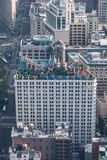 Dach zum Restaurant, NYC stockfoto