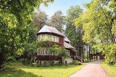 Dacha Pasternak Boris (εξοχικό σπίτι) στο χωριό Peredelkino, Ρωσία στοκ φωτογραφίες