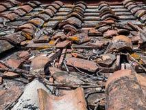 Dachabdeckung geschädigt durch Gewitter Lizenzfreies Stockbild