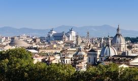 Dachansicht über Rom vom Hügel Lizenzfreies Stockfoto