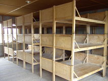 Dachau Bunk Beds. Reconstructed Bunk Beds at Dachau Concentration Camp, Germany Stock Photos