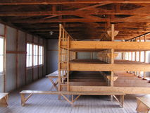Dachau Concentration Camp. Memorial Site,  Dormitory (reconstruction Royalty Free Stock Image
