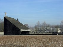 Dachau Concentration Camp. The Jewish Memorial at Dachau Concentration Camp in Germany Stock Photo