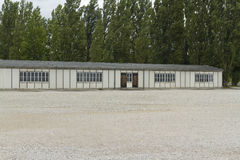 Dachau Concentration Camp. Barrack building today. Royalty Free Stock Photography