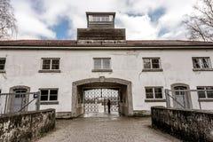 Munich, Germany. Dachau Concentration Camp - entrance gates Royalty Free Stock Photos