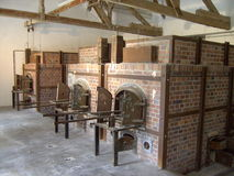 Dachau Concentration Camp, Germany. Ovens in Dachau Concentration Camp, Germany Royalty Free Stock Photos