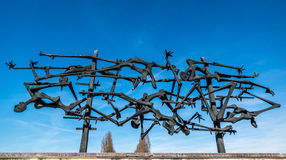 Dachau concentration camp memorial. Was designed by a former camp survivor Royalty Free Stock Images