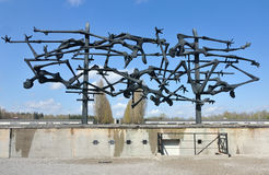 Dachau concentration memorial sculpture stock images