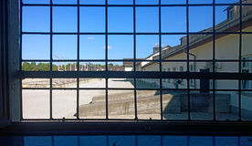 Dachau, Deutschland - Ansicht des Konzentrationslagers, jetzt Erinnerungss Stockfotografie