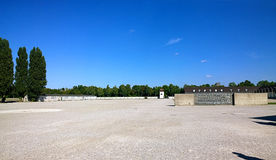 Dachau, Deutschland - Konzentrationslager, Namensaufrufbereich, internat Lizenzfreies Stockbild