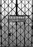 Dachau entrance (concentration camp). Arbeit macht frei is a German phrase meaning work brings freedom Royalty Free Stock Photography