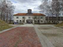 Dachau Entrance. Entrance into Dachau Concentration Camp Royalty Free Stock Photography
