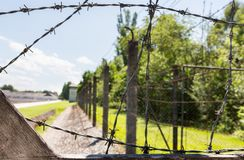 Dachau fångekoncentrationsläger arkivbild