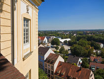Dachau, Germany - bird's eye  panorama of the town from the cast Royalty Free Stock Photo