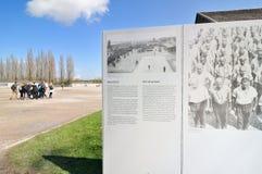 Dachau koncentracja z informacją który daje szczegółom p obraz stock