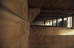 Dachau koncentracyjny obóz, drewniani łóżka Fotografia Royalty Free