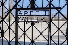 Dachau koncentrationsläger, Munich, Tyskland arkivfoton