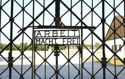 Dachau-Konzentrationslager stockfoto