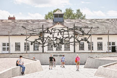 Dachau main memorial Royalty Free Stock Images
