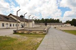 Dachau - minnesmärke och baracker Royaltyfria Bilder