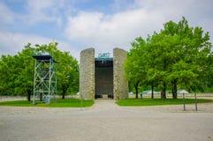 Dachau Niemcy, Lipiec, - 30, 2015: Piękny i symboliczny katolicki rzymski zabytek na cześć spadać Obraz Royalty Free