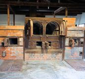 Dachau, oberes Bayern/Deutschland - März 2018: Krematorium innerhalb des Dachau-Konzentrationslagers Lizenzfreies Stockbild