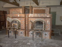 Dachau Ovens. Brick Ovens in Dachau Concentration Camp, Germany Royalty Free Stock Photos
