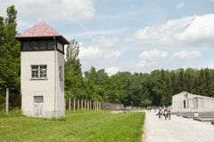 Dachau watchtower Stock Images