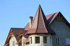 Dachaufbau für Haus stockfotografie