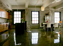 Dachboden-Eigentumswohnung Lizenzfreies Stockbild