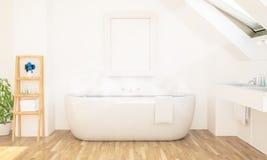 Dachbodenbadezimmer-Plakatmodell lizenzfreie stockfotografie