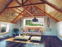 Dachbodeninnenraum Lizenzfreies Stockfoto