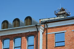 Dachdachbodenziegelstein Stockfotografie