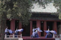 Dacheng muzyki występ przy świątynią Confucius w Pekin, Chiny Obrazy Stock