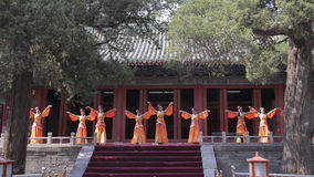 Dacheng Rites-Music Performance at Temple of Confucius in Beijing, China. It intends to enlighten people and convey the artistic purpose of cultivating people Royalty Free Stock Photography